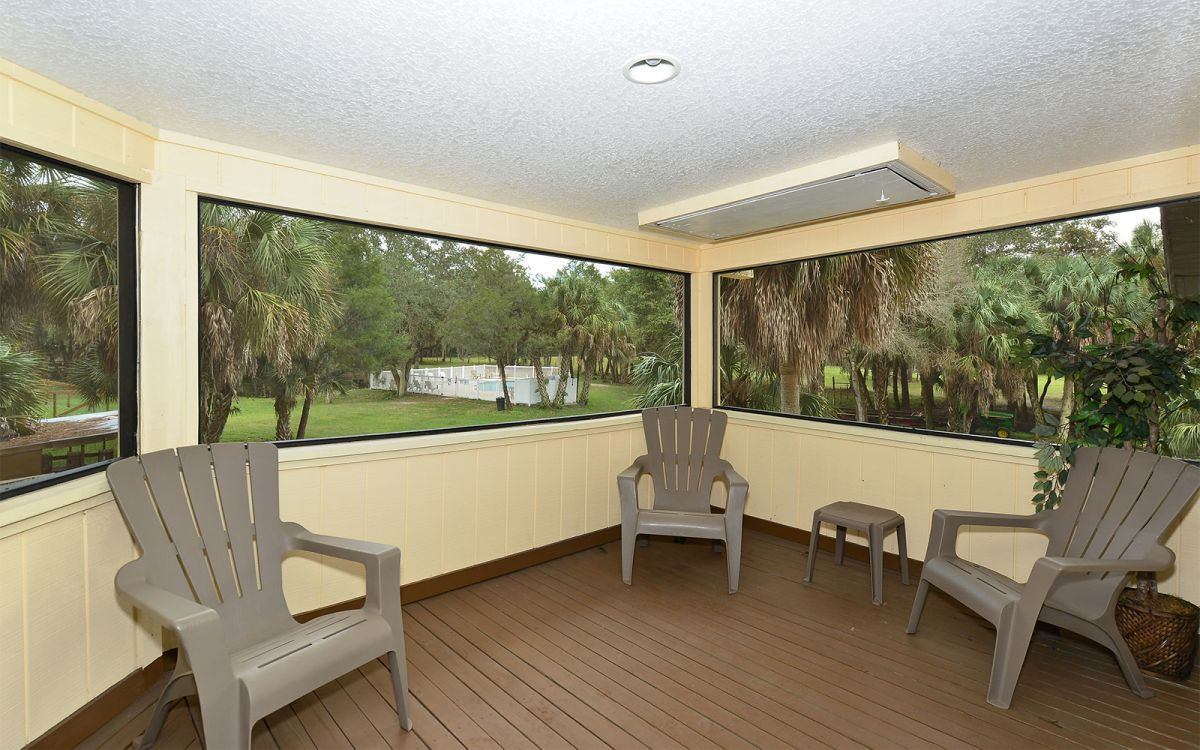 Screened-In Porch Unit A  with Pool View